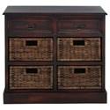 UMA Enterprises, Inc. Accent Furniture Wood 4 Basket Chest - Item Number: 96253