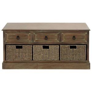 UMA Enterprises, Inc. Accent Furniture Wood 3 Basket Chest