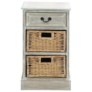 UMA Enterprises, Inc. Accent Furniture Wood 2 Basket Side Table