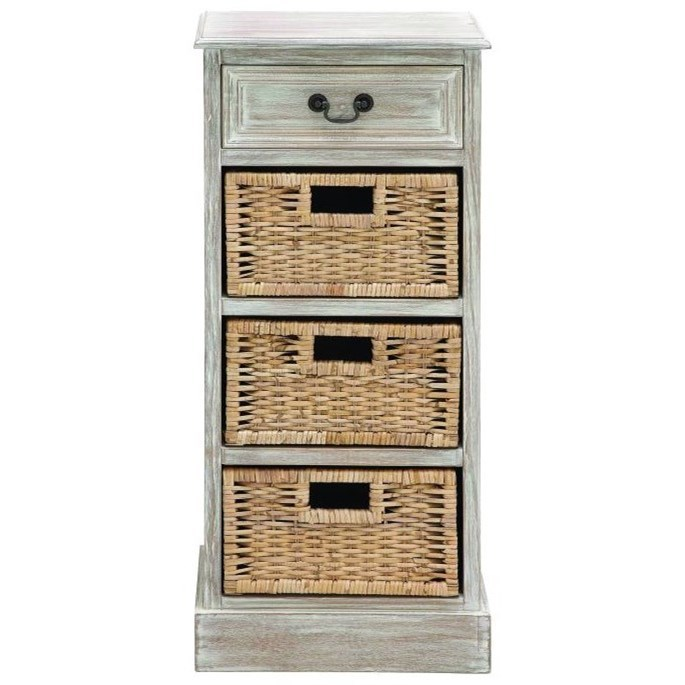 Accent Furniture Wood 3 Basket Chest by UMA Enterprises, Inc. at Wilcox Furniture