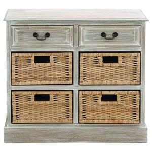UMA Enterprises, Inc. Accent Furniture Wood 4 Basket Chest