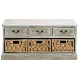 UMA Enterprises, Inc. Accent Furniture Wood 3 Basket Low Chest