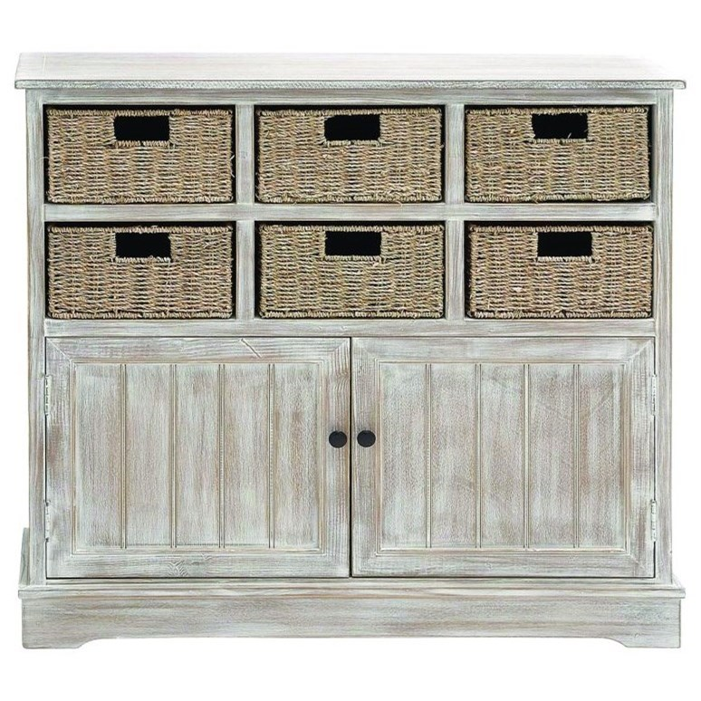 Accent Furniture Wood 6 Basket Cabinet by UMA Enterprises, Inc. at Wilcox Furniture