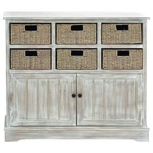 UMA Enterprises, Inc. Accent Furniture Wood 6 Basket Cabinet