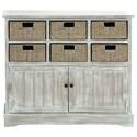 UMA Enterprises, Inc. Accent Furniture Wood 6 Basket Cabinet - Item Number: 96296