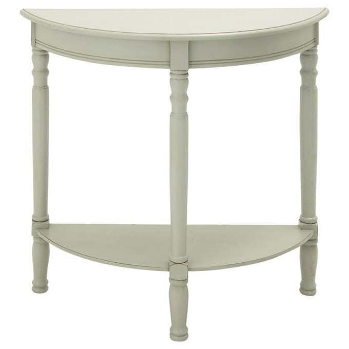 Accent Furniture Wood Half Round Console Table by UMA Enterprises, Inc. at Wilcox Furniture