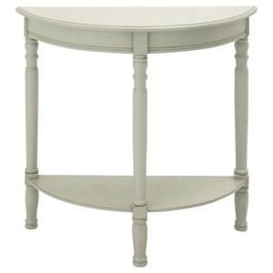 UMA Enterprises, Inc. Accent Furniture Wood Half Round Console Table