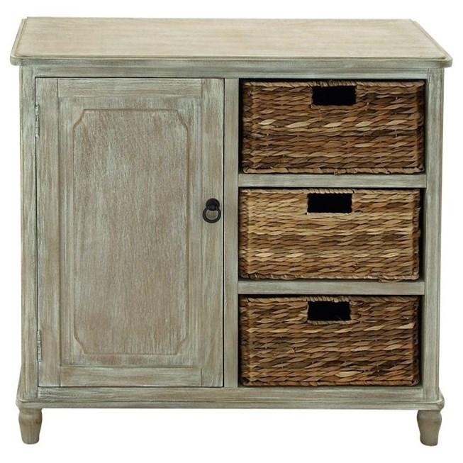 Wood Basket Cabinet