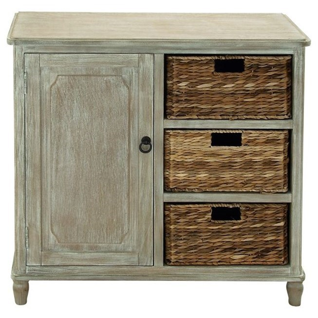 Accent Furniture Wood Basket Cabinet by UMA Enterprises, Inc. at Wilcox Furniture