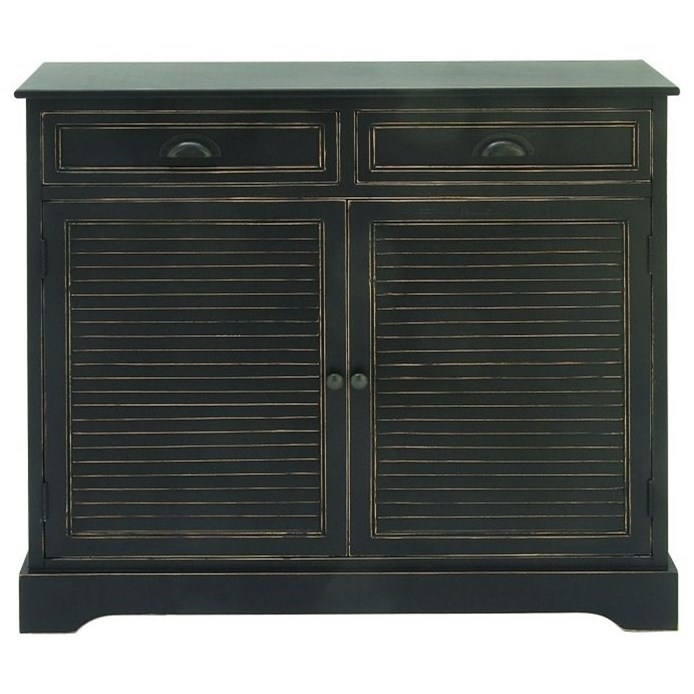 Accent Furniture Wood Black Cabinet by UMA Enterprises, Inc. at Wilcox Furniture