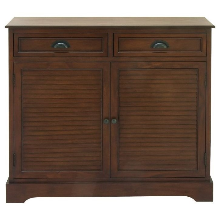 Accent Furniture Wood Brown Cabinet by UMA Enterprises, Inc. at Wilcox Furniture