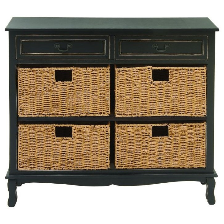 Accent Furniture Wood Seagrass Black Chest by UMA Enterprises, Inc. at Wilcox Furniture
