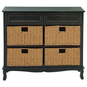 UMA Enterprises, Inc. Accent Furniture Wood Seagrass Black Chest