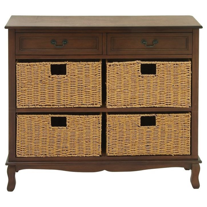 Accent Furniture Wood Seagrass Brown Chest by UMA Enterprises, Inc. at Wilcox Furniture