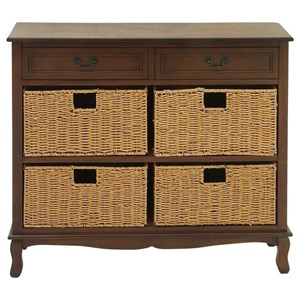 UMA Enterprises, Inc. Accent Furniture Wood Seagrass Brown Chest