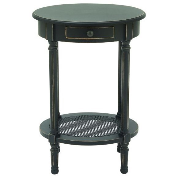Wood Black Accent Table