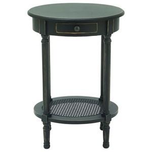 UMA Enterprises, Inc. Accent Furniture Wood Black Accent Table