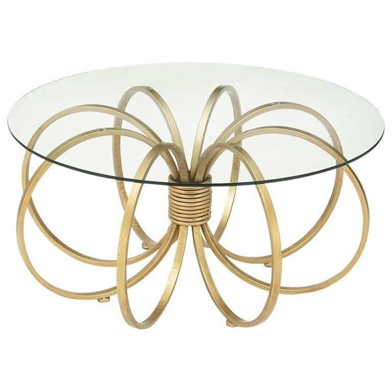 Accent Furniture Metal/Glass Coffee Table by UMA Enterprises, Inc. at Wilcox Furniture