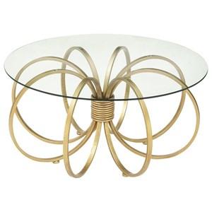 UMA Enterprises, Inc. Accent Furniture Metal/Glass Coffee Table