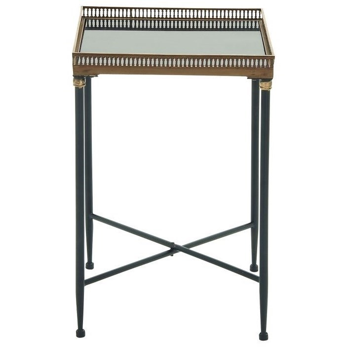 Metal/Marble Tray Table
