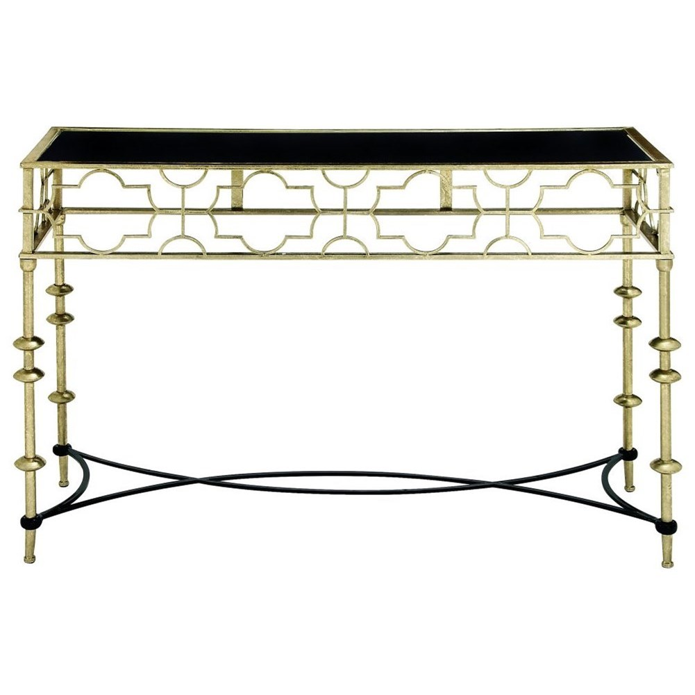 Accent Furniture Metal/Glass Console Table by UMA Enterprises, Inc. at Wilcox Furniture