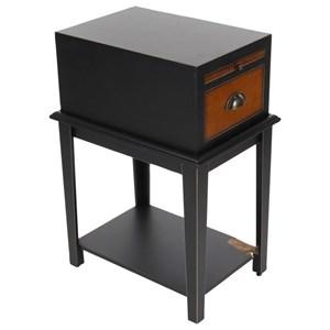UMA Enterprises, Inc. Accent Furniture Wood Black Side Table