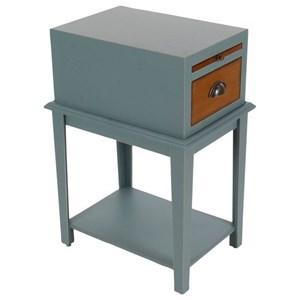 "UMA Enterprises, Inc. Accent Furniture Wd Grey Side Table 13""W, 26""H"
