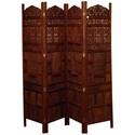 UMA Enterprises, Inc. Accessories Wood 4 Panel Screen - Item Number: 17278