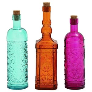 UMA Enterprises, Inc. Accessories Glass Stopper Bottles, Set of 3