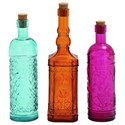 UMA Enterprises, Inc. Accessories Glass Stopper Bottles, Set of 3 - Item Number: 18209