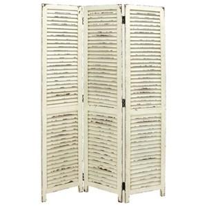 UMA Enterprises, Inc. Accessories Wood 3 Panel White Screen
