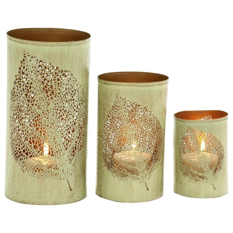 Metal Candle Holders, Set of 3