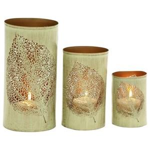 UMA Enterprises, Inc. Accessories Metal Candle Holders, Set of 3