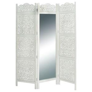 UMA Enterprises, Inc. Accessories Wood Mirror 3 Panel Screen