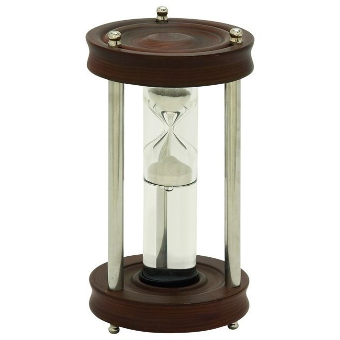 Wood/Aluminum/Glass Floating Sand Timer