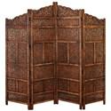 UMA Enterprises, Inc. Accessories Wood 4 Panel Screen - Item Number: 34006