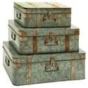 UMA Enterprises, Inc. Accessories Metal Galvanized Trunks, Set of 3 - Item Number: 38190