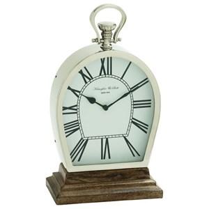 UMA Enterprises, Inc. Accessories Steel/Wood Table Clock
