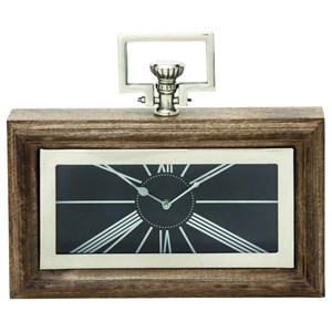 UMA Enterprises, Inc. Accessories Wood/Steel Clock