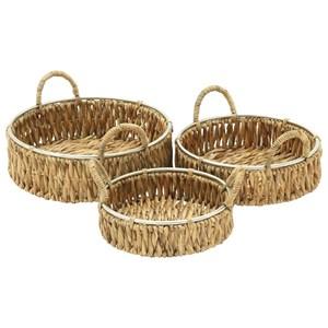 UMA Enterprises, Inc. Accessories Seagrass Baskets, Set of 3
