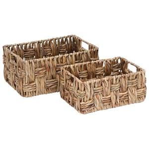 UMA Enterprises, Inc. Accessories Wicker Baskets, Set of 2