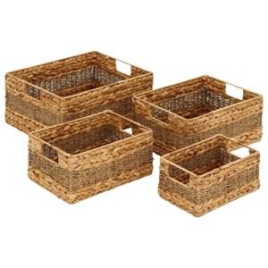 UMA Enterprises, Inc. Accessories Seagrass Baskets, Set of 4
