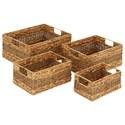 UMA Enterprises, Inc. Accessories Seagrass Baskets, Set of 4 - Item Number: 48969
