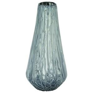 UMA Enterprises, Inc. Accessories Glass Drip Grey Vase