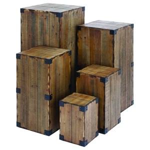 UMA Enterprises, Inc. Accessories Wood Pedestals, Set of 5