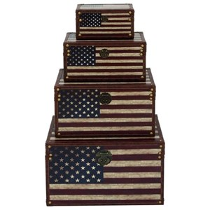 UMA Enterprises, Inc. Accessories Flag Trunks, Set of 4