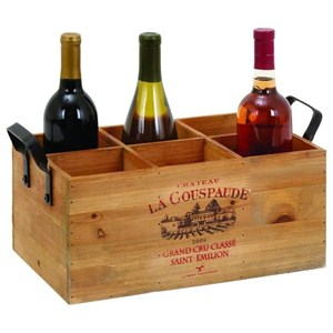 UMA Enterprises, Inc. Accessories Wood Wine Holder