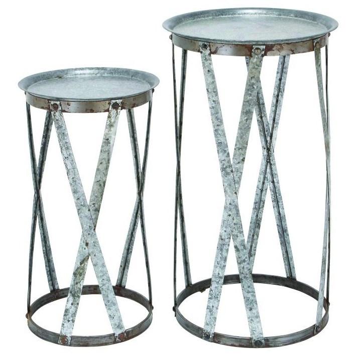Metal Pedestals, Set of 2