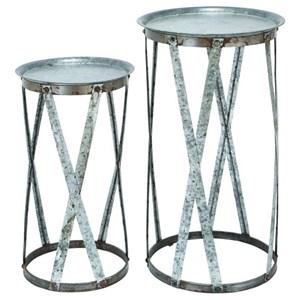 UMA Enterprises, Inc. Accessories Metal Pedestals, Set of 2