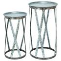 UMA Enterprises, Inc. Accessories Metal Pedestals, Set of 2 - Item Number: 56196